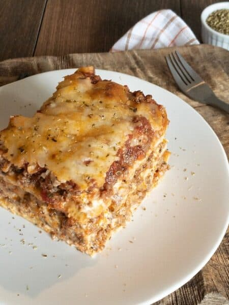 Deep Dish Keto Meat Lasagna { Low Carb | Keto | GF }