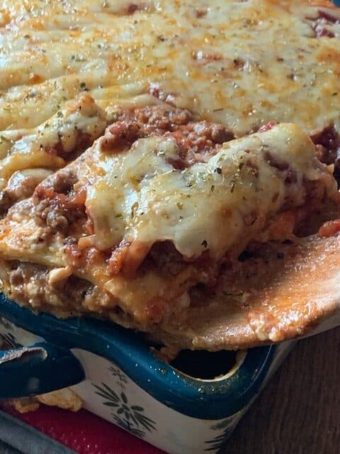 Keto Meat Lasagna