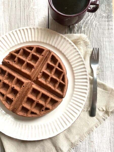 Chocolate Peanut Butter Waffles