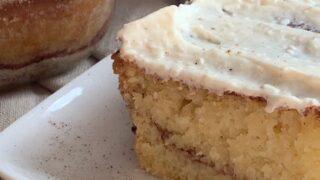 Cinnamon & cream cheese coffee cake