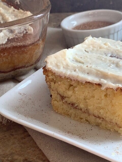 Cinnamon & cream cheese coffee cake