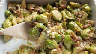 Keto Bacon Brussels Sprouts Casserole