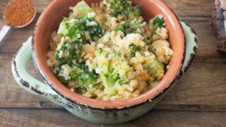 Cheesy Spicy Broccoli and Cauliflower Rice {Low Carb   Keto   GF}