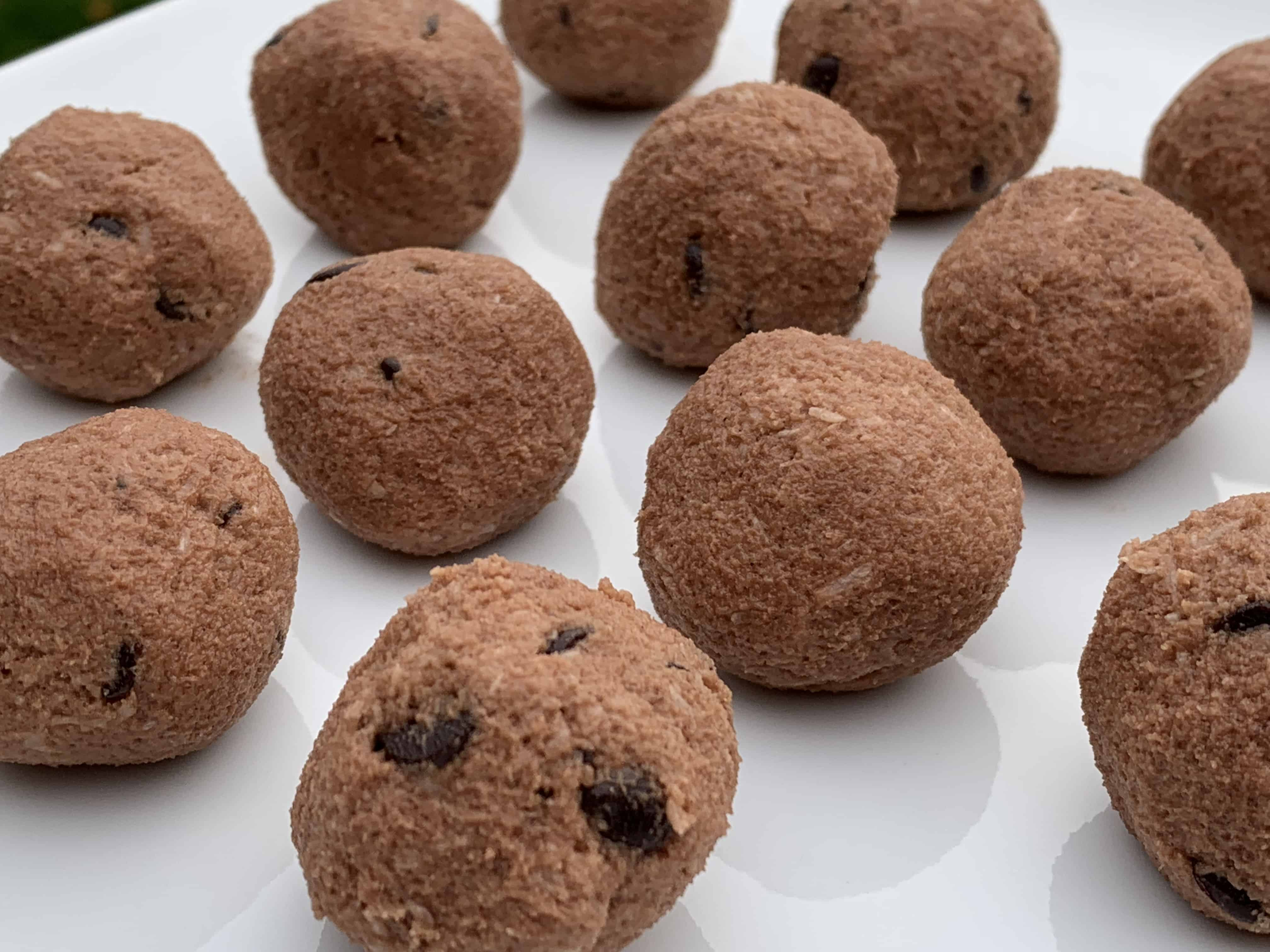 Keto Chocolate Coconut Cookie Dough Bites