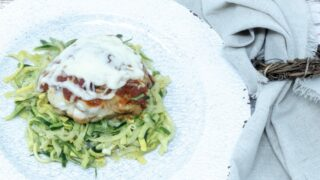 Butter Herb Chicken Over Zoodles