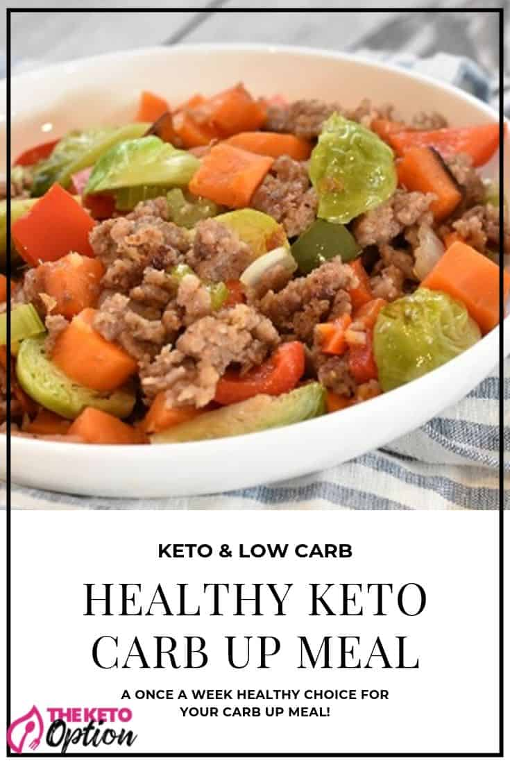 Healthy Keto Carb Up Meal