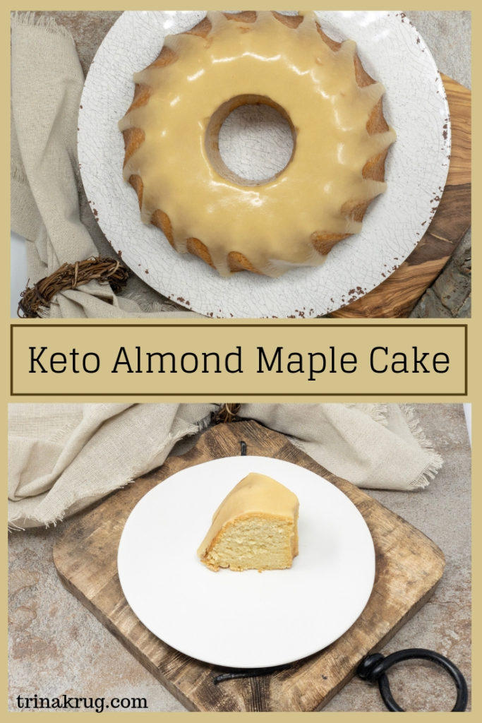 Keto Almond Maple Cake