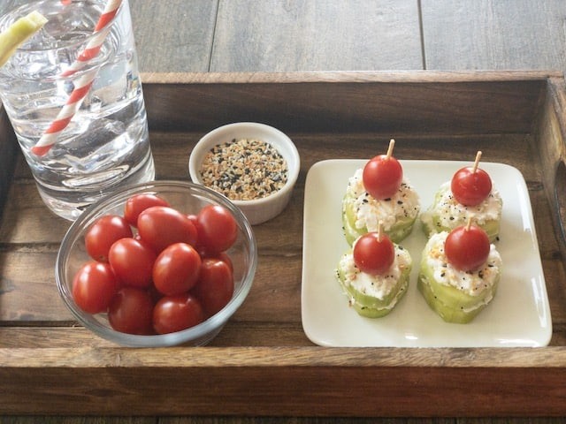 Low Carb Keto Goat Cheese Cucumber Bites
