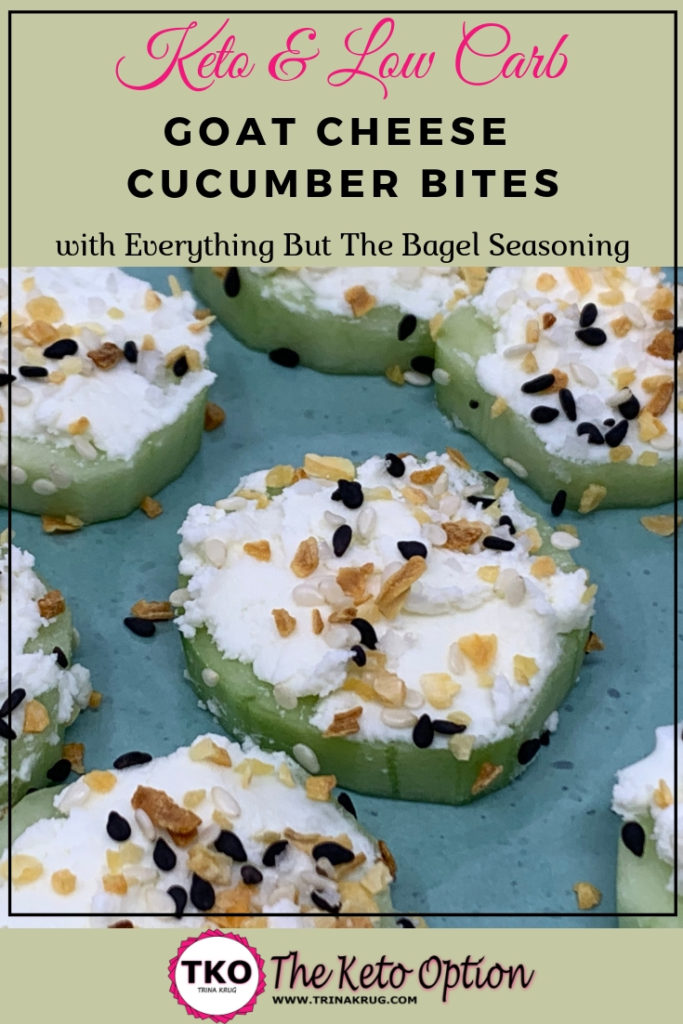Goat Cheese Cucumber Bites