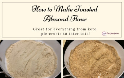 How to make toasted almond flour