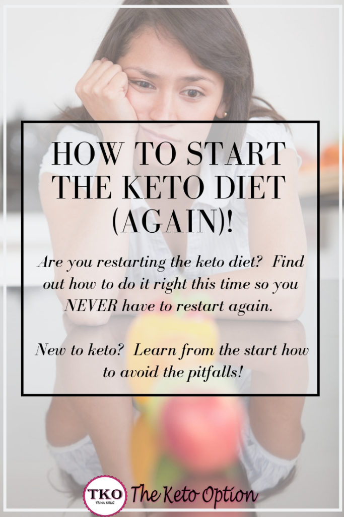 How to start the keto diet again!