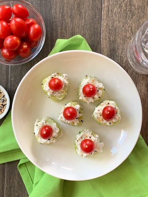 Goat Cheese Cucumber Bites