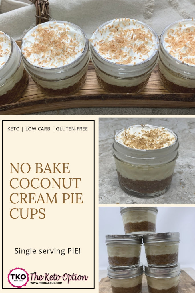 Keto Coconut Cream Pie Cups