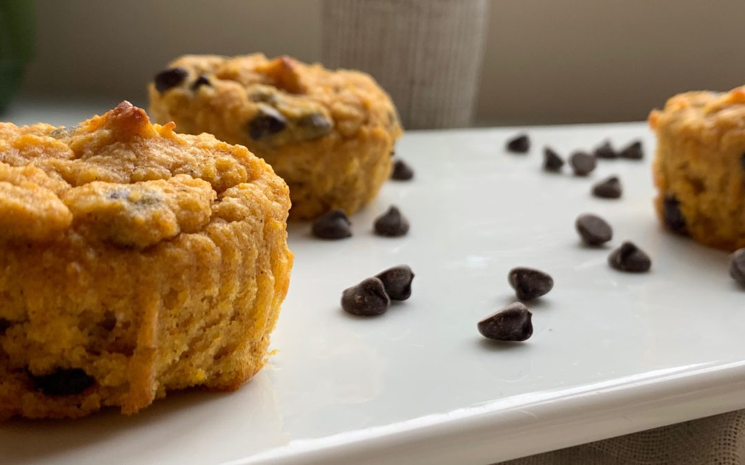 Keto Chocolate Chip Pumpkin Muffins