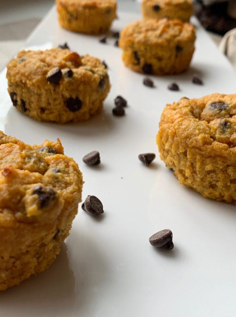 Keto Chocolate Chip Pumpkin Muffins