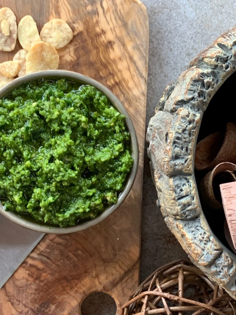 Keto Garlic Lover's Pesto Spread