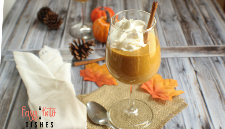 Pumpkin Cream Mousse (low carb, keto friendly, THM:S)