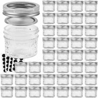 VERONES Mason Jars Canning Jars, 4 OZ Jelly Jars With Regular Lids and Bands