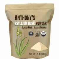 Anthony's Organic Psyllium Husk Powder (1.5lb), Gluten Free, Non-GMO, Finely Ground