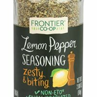 Frontier Seasoning Blends, Salt-Free Lemon Pepper, 2.08-Ounce Bottle