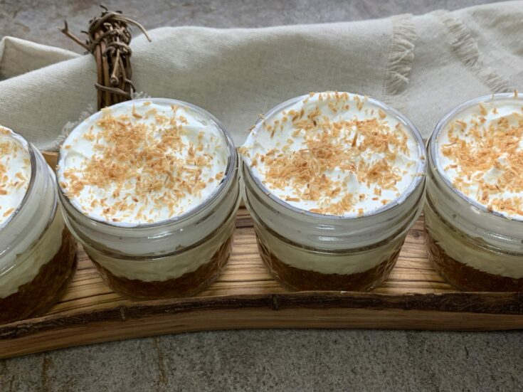 Keto No Bake Coconut Cream Pie Cups