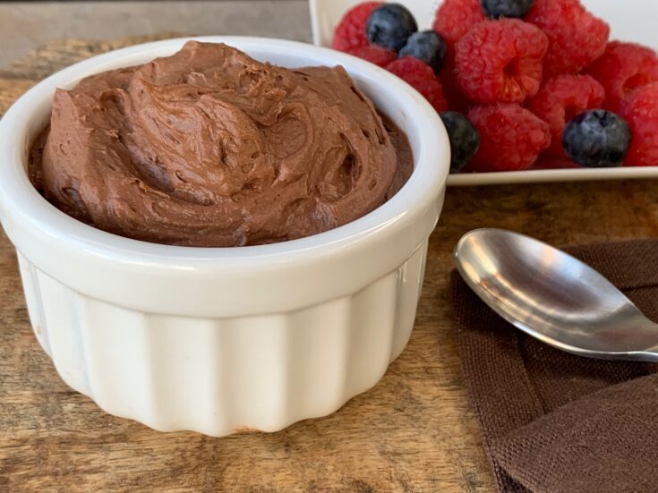 Keto Chocolate Avocado Mousse
