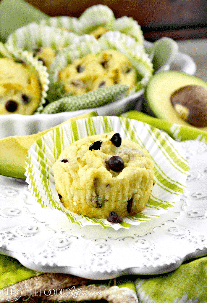 Chocolate Chip Avocado Muffins | Sweetened with Stevia