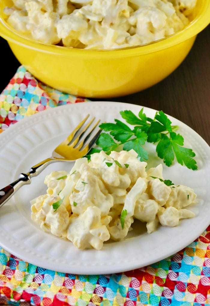 Mock Low Carb Potato Salad | Made With Cauliflower