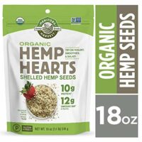 Manitoba Harvest Organic Hemp Hearts Raw Shelled Hemp Seeds, 18 Ounce