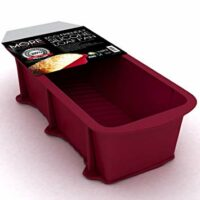More Cuisine Essentials BG - 1322 Eco-Friendly, Nonstick Silicone Loaf and Bread Pan, Commercial Grade; FDA & European Grade Silicone, Burgundy Wine