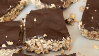 Chewy Chocolate Nut Bars { Low Carb | Keto | GF }
