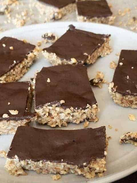 Chewy Chocolate Nut Bars { Low Carb | Keto | GF }