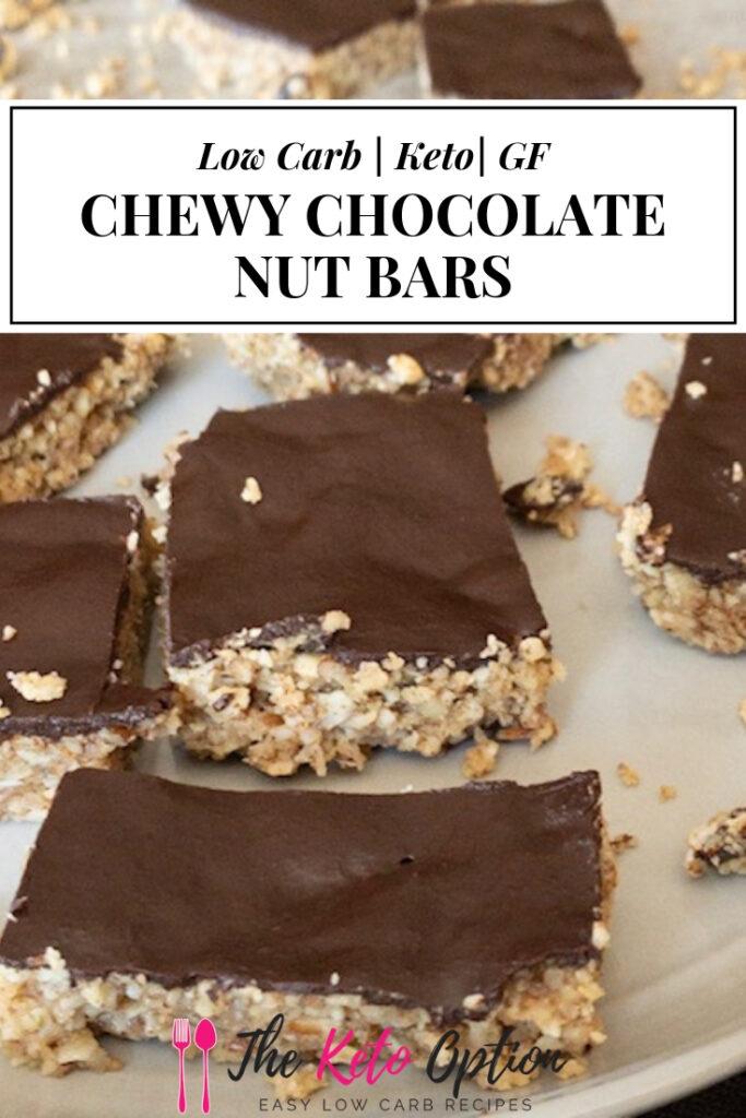 Keto Chewy Chocolate Nut Bars