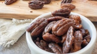 Sweet and Spicy Baked Pecans { Low Carb | Keto | GF }