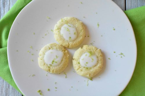 Keto Key Lime Sugar Cookies