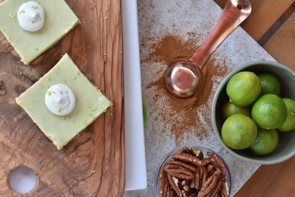 Key Lime Matcha Bars
