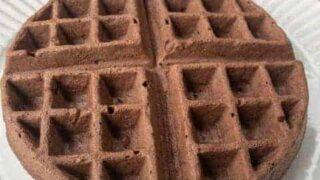 Chocolate Peanut Butter Waffles