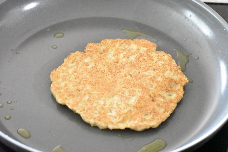 Keto Pita Bread Cooking