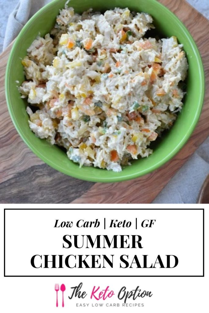 Keto Summer Chicken Salad
