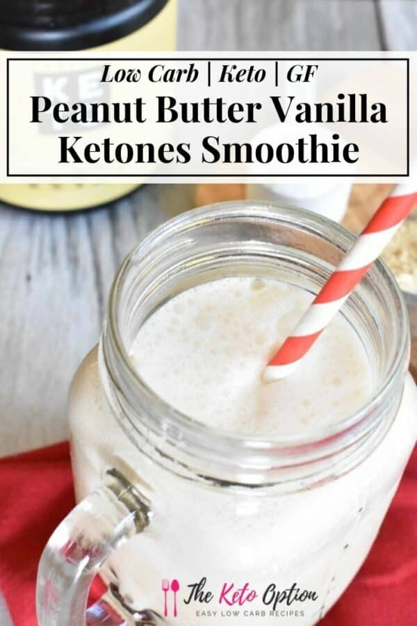 Peanut Butter Vanilla Ketones Smoothie