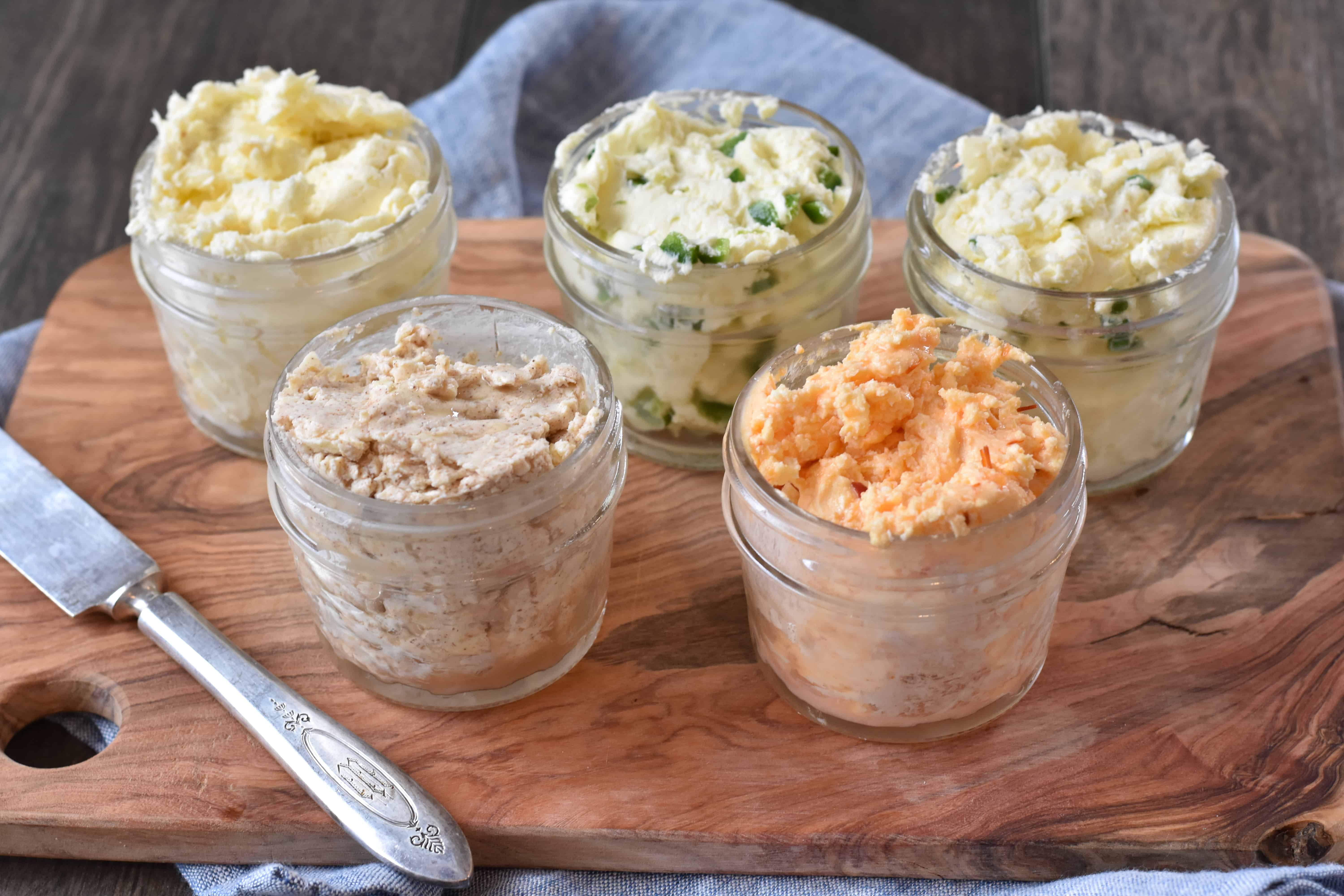 How to Make 5 Flavored Homemade Butters