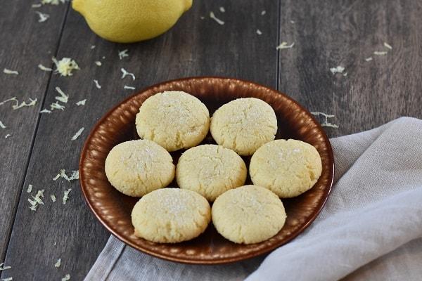 Keto Lemon Sugar Cookies
