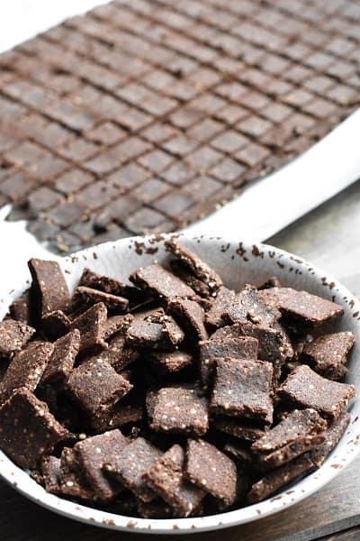 Keto Chocolate Graham Cracker Bites