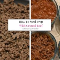 How to Meal Prep with Ground Beef