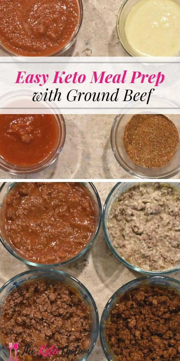 Keto Meal Prep With Ground Beef