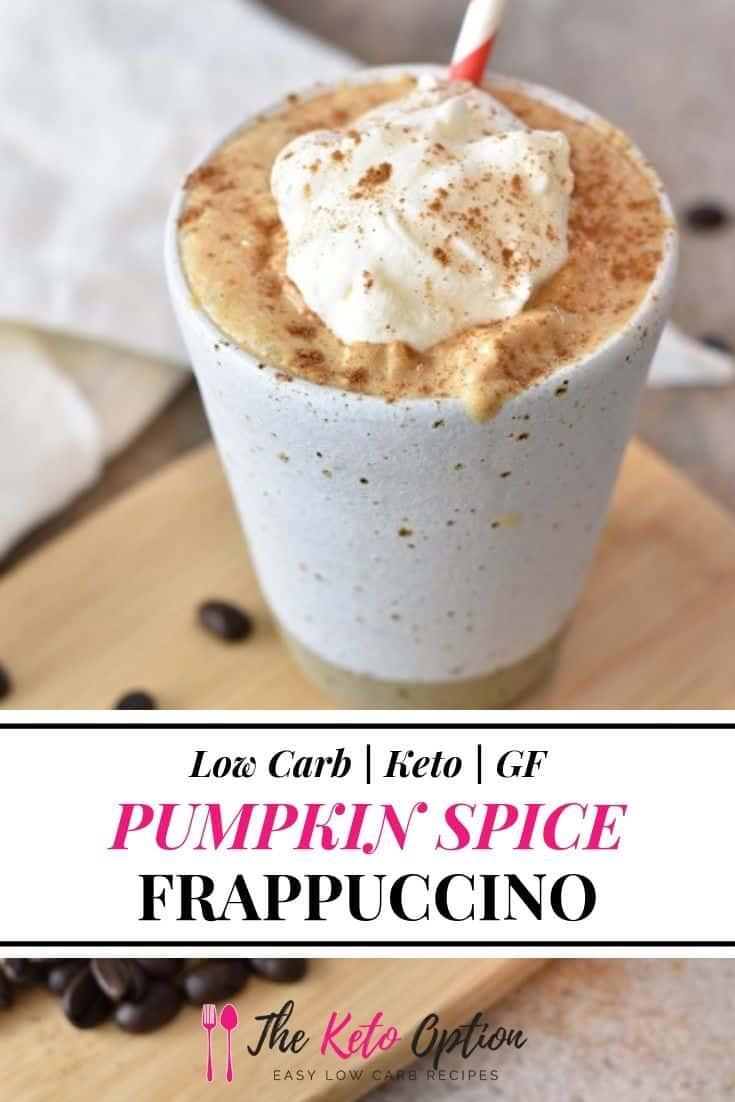 Keto Pumpkin Spice Frappuccino
