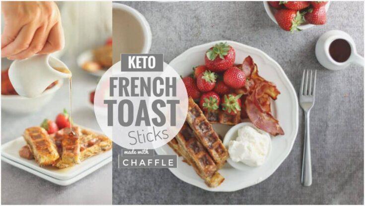Baked Chaffle French Toast Sticks (Freezer-Friendly)   Keto French Toast