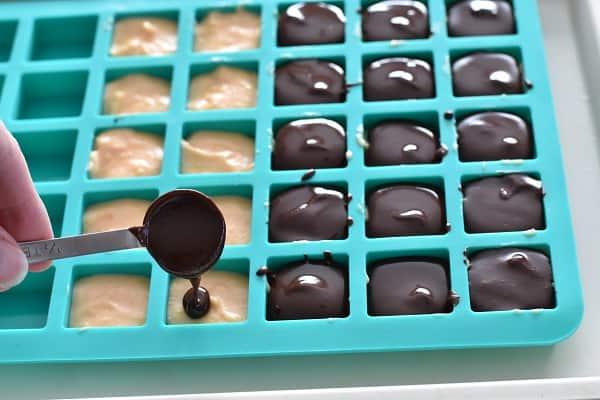 Low Carb Dark Chocolate Orange Frozen Treats