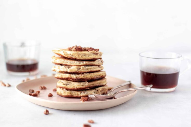 Fluffy Keto Pancakes With Ricotta & Pecans