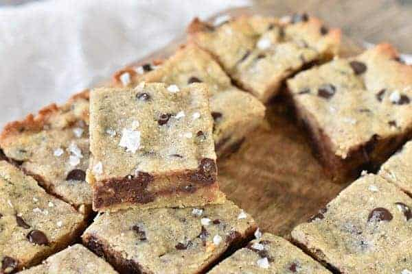 Keto Chocolate Chip  Cookie Bars { Gluten Free }